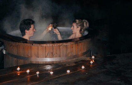 relaxen in hottub